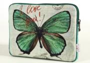 Чехол для нетбука 10 Зеленая бабочка