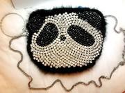 Женская коктейльная сумка. Панда